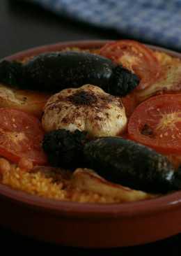Arroz al horno (arròs passejat) típico de Comunidad Valenciana