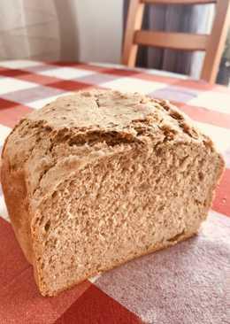 Pan semi-integral panificadora con harinas integrales de espelta y trigo 🌾 y semillas