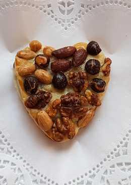 Corazón de hojaldre de frutos secos