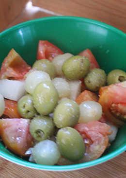 Ensalada de tomate y melón