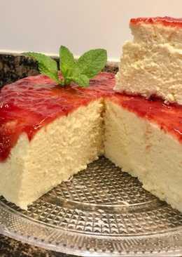 Tarta de queso japonesa sin gluten, sin lactosa