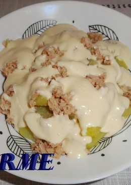 Patatas con atún y salsa mahonesa