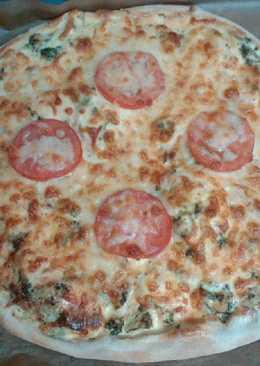 Pizza quiche de bacon y brócoli
