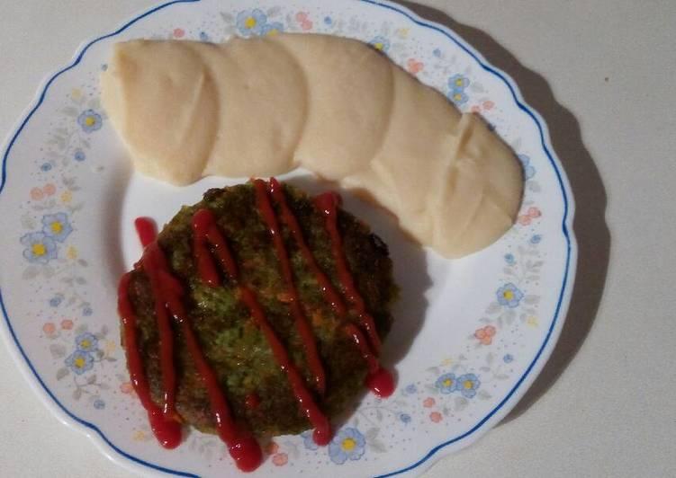Hamburguesa de brócoli y zanahoria