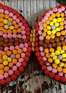 Tarta de cumpleaños mariposa con lacasitos