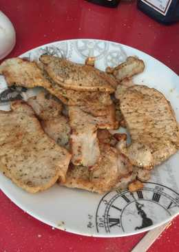 Lomo frito con ajos