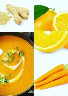 Crema de zanahorias con naranja y gengibre