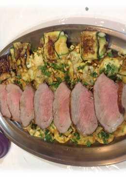 Secreto de cerdo con salsa de foie y reducción de vino