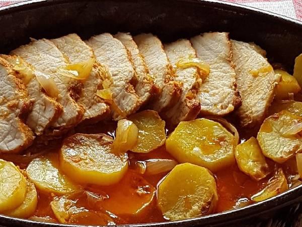 Lomo de cerdo al horno con pimentón
