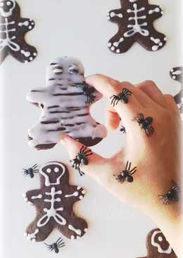 Galletas esqueleto para halloween (sabor chocolate)