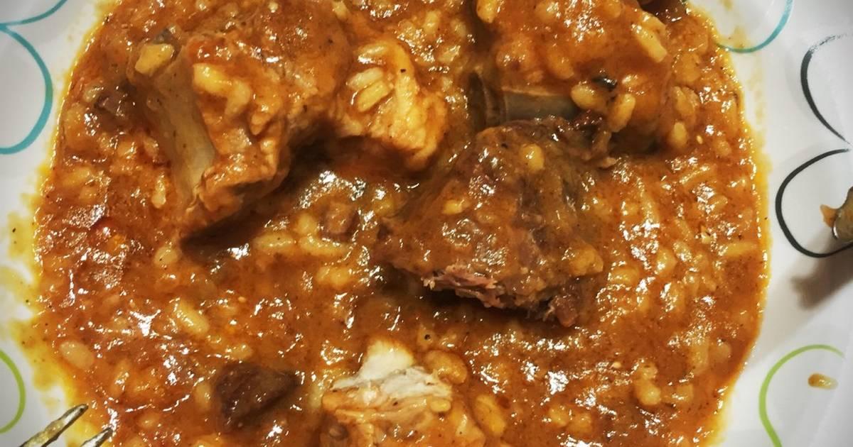 Arroz con carne de cerdo 710 recetas caseras cookpad - Arroz caldoso con costillas y alcachofas ...