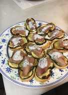 Tapa de calabacín con sardina de Santoña
