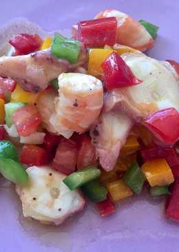 Salpicón de marisco súper colorido!☀️🌈