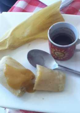 Tamales de arroz con mermelada de tejocote para el desayuno de San Valentín