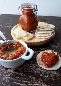 Chutney de tomates cherrys