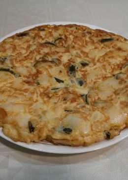 Tortilla de patata y calabacín