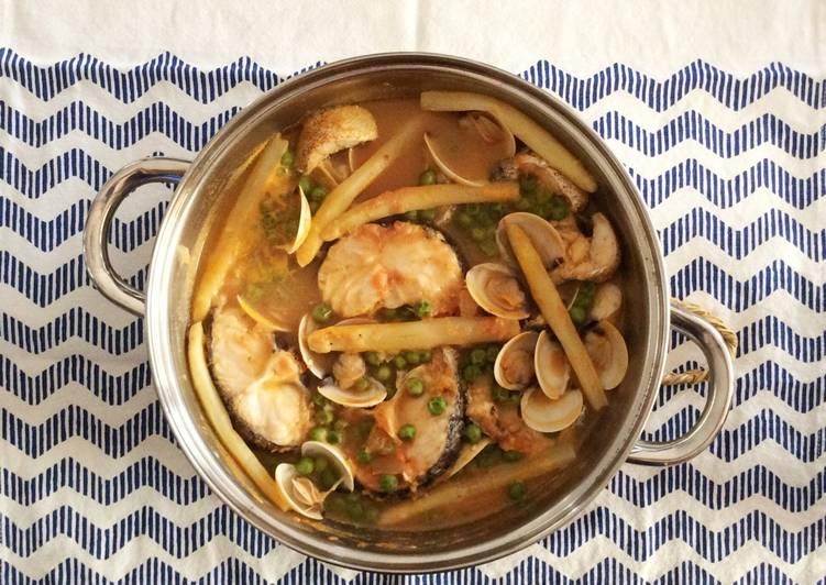 Merluza a la vasca receta de sabina alcaraz cookpad for Cocinar merluza a la vasca
