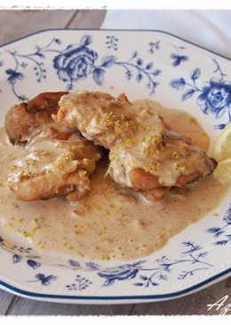 Pollo con salsa de nata y limón