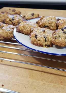 Cookies de avena con arándanos y anacardos