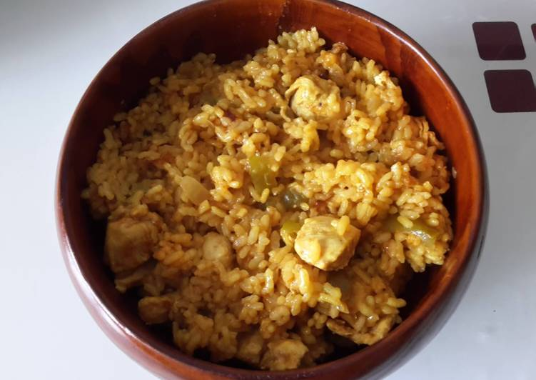 Arroz con pollo al curry (en olla GM)