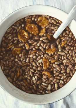 Bebida casera de soja con cacao y cereales sin azúcar