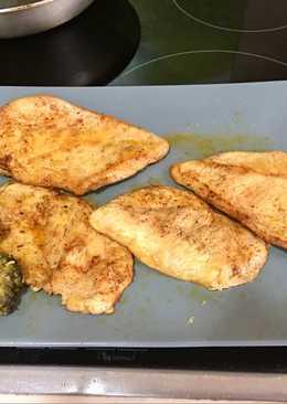 Pechuga de pollo al ras el hanut