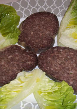 Aperitivo de poltrota con hojas de ensalada