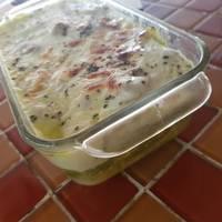 Pastel azteca de atún con un toque fancy (pero sale barato) deli