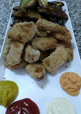 Nuggets de pollo rebozados en harina de mandioca
