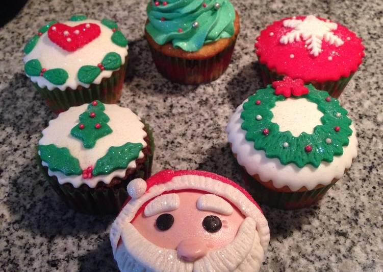 Cupcakes Navidenos Receta De Swizy Cookpad