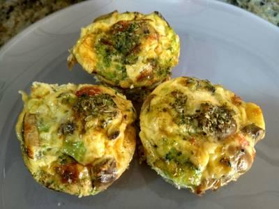 Muffins de huevo y verdura