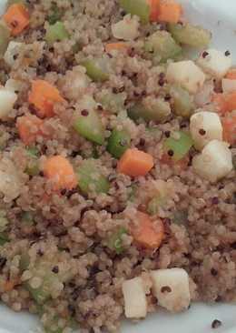 Quinoa con calabacín y queso