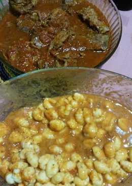 Estofado de carnes con ñoquis en salsa
