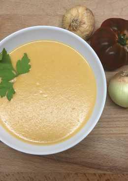 Crema de tomate con queso Philadelphia, muy suave!