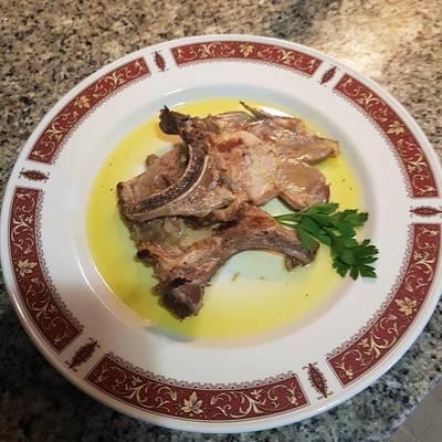 Chuletas de cerdo al limón