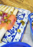 Receta fresquita y ligera de espárragos con salmón