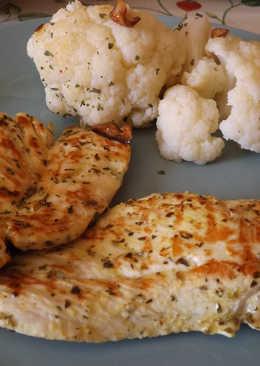 Plato ligero de pollo con limón y cúrcuma, para dieta