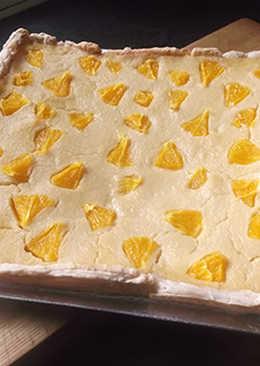 Tarta de hojaldre con naranja