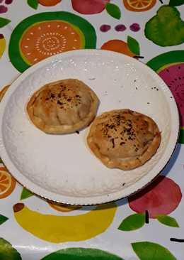 Empanadillas redondas en dos rellenos