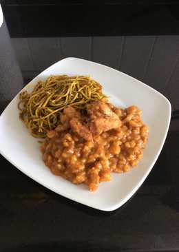 Carapulca con sopa seca (comida típica de chincha-Perú )