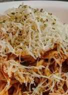 QUESO🧀 Grana Padano con Espaguettis🍝 en Salsa Roja...!