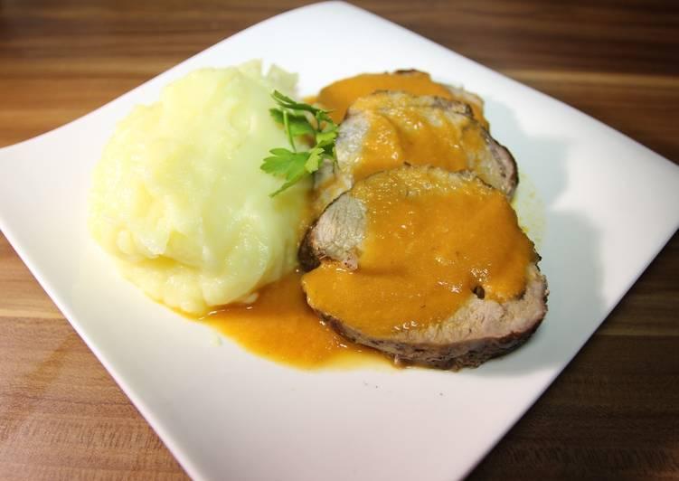 Carne asada o redondo de ternera al horno