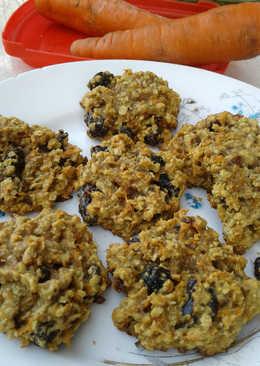 Galletas de zanahoria y avena, sin manteca o mantequilla sin huevo