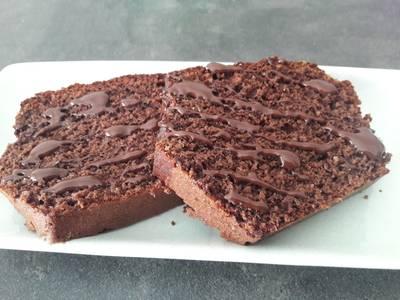 Bizcocho integral de chocolate sin azúcar