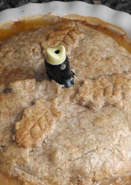 Pie de longaniza fresca con puerros y cebolleta