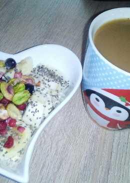 Gachas de avena o porridge vegano