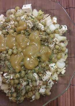 Ensalada verde (vegan) con aderezo casero picantito