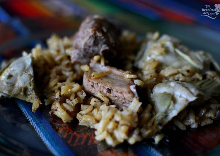 Arroz con costilla de cerdo y alcachofas receta de - Arroz caldoso con costillas y alcachofas ...