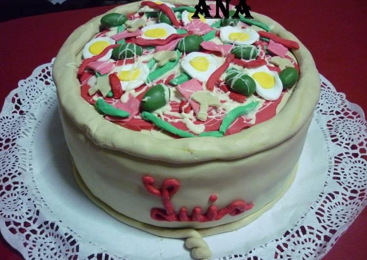 Torta imitación pizza para cumpleaños de adultos Receta de GRINGA ...