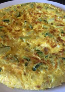Tortilla de calabacín con Jamón